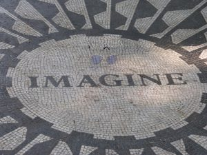 Strawberry Fields in Central Park - New York, city of freedom and imaginationa
